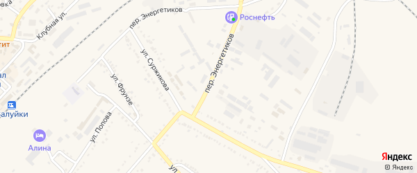 Переулок Энергетиков на карте Валуек с номерами домов