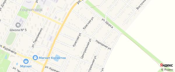 Народная улица на карте Валуек с номерами домов