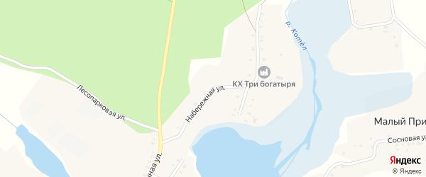 Набережная улица на карте поселка Малого Присынка с номерами домов