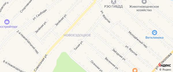 Тихая улица на карте Валуек с номерами домов