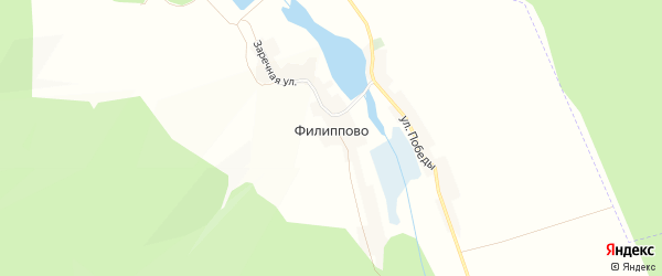 Карта села Филиппово в Белгородской области с улицами и номерами домов
