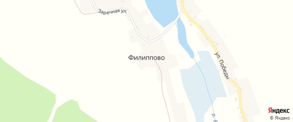 Улица Победы на карте села Филиппово с номерами домов