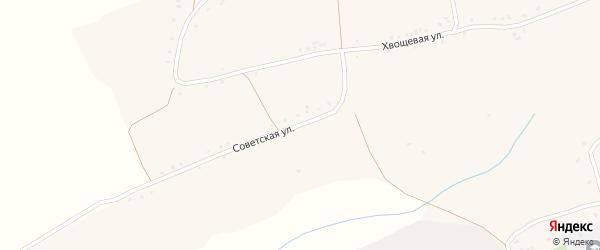 Советская улица на карте села Волотово с номерами домов