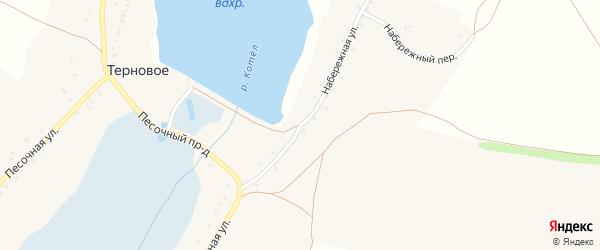 Набережная улица на карте Тернового села с номерами домов
