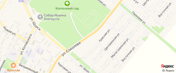 Улица Соколова на карте Валуек с номерами домов