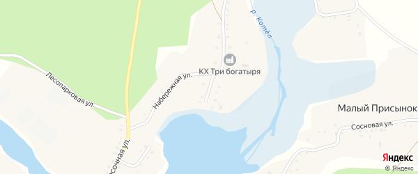 Набережный переулок на карте поселка Малого Присынка с номерами домов