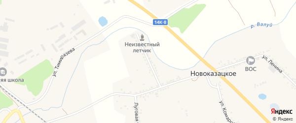 Набережная улица на карте Новоказацкого села с номерами домов