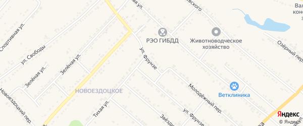 Улица Фрунзе на карте Валуек с номерами домов