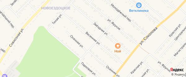Весенняя улица на карте Валуек с номерами домов