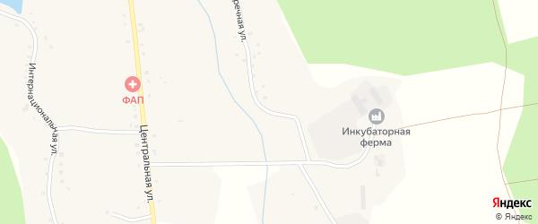 Заречная улица на карте села Чужиково с номерами домов