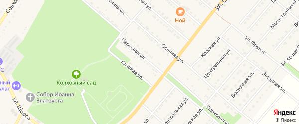Парковая улица на карте Валуек с номерами домов