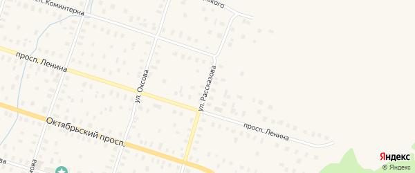 Улица Рассказова на карте Онеги с номерами домов