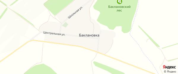 Карта села Баклановки в Белгородской области с улицами и номерами домов