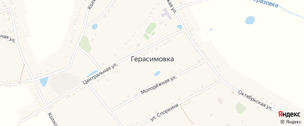 Набережная улица на карте села Герасимовки с номерами домов
