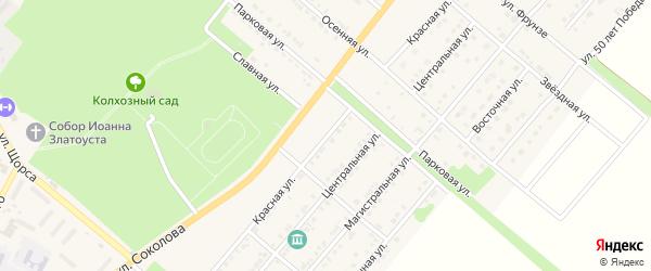 Красная улица на карте Валуек с номерами домов