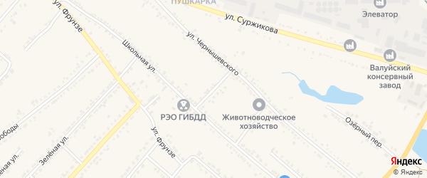 2-й Школьный переулок на карте Валуек с номерами домов
