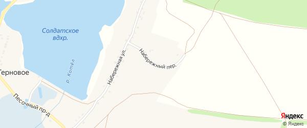 Набережный переулок на карте Тернового села с номерами домов