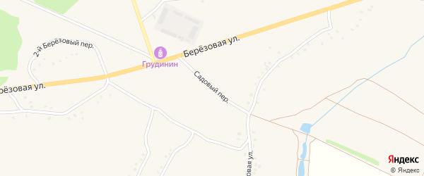 Садовый переулок на карте Солдатского села с номерами домов