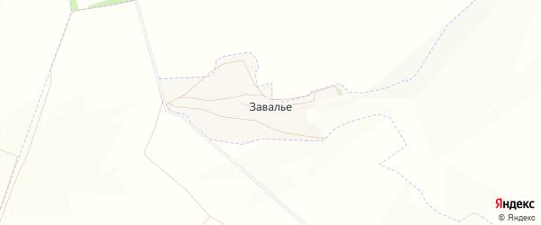 Карта поселка Завалье в Белгородской области с улицами и номерами домов