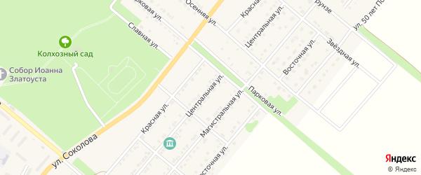 Центральная улица на карте Валуек с номерами домов