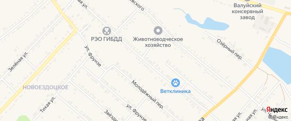 Школьная улица на карте Валуек с номерами домов