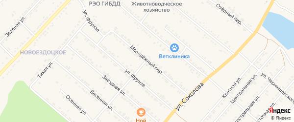 Молодежный переулок на карте Валуек с номерами домов