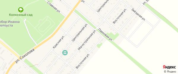 Магистральная улица на карте Валуек с номерами домов