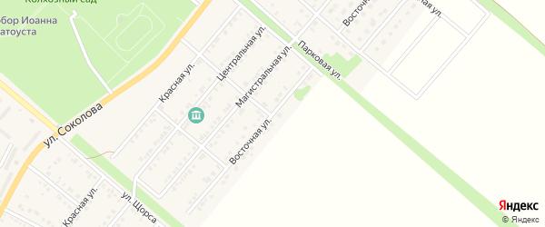 Восточная улица на карте Валуек с номерами домов