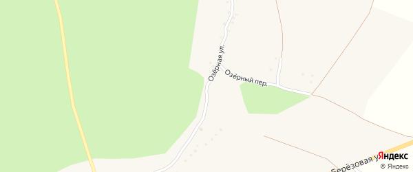 Озерная улица на карте Солдатского села с номерами домов
