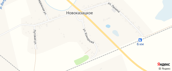 Улица Комарова на карте Новоказацкого села с номерами домов