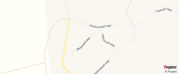 Мирный переулок на карте села Палатово с номерами домов