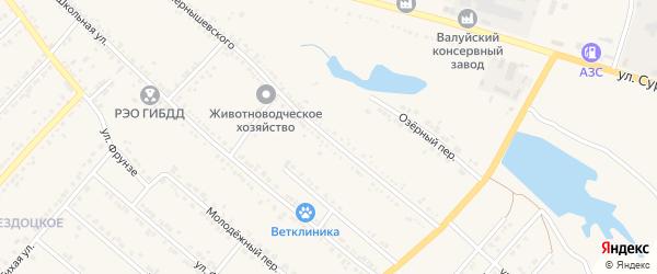 Улица Чернышевского на карте Валуек с номерами домов