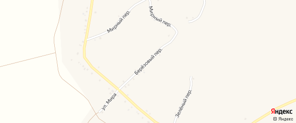 Березовый переулок на карте села Палатово с номерами домов