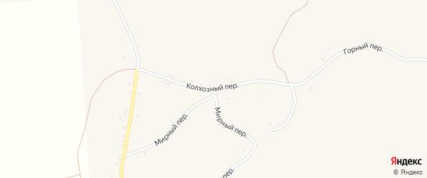 Колхозный переулок на карте села Палатово с номерами домов