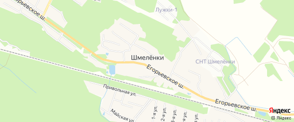 Карта деревни Шмеленки в Московской области с улицами и номерами домов