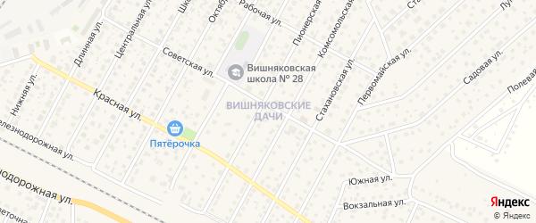 Микрорайон Вишняковские дачи на карте Электроуглей с номерами домов