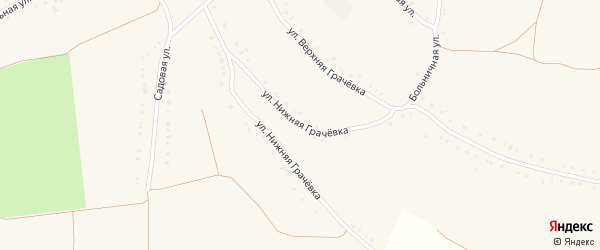 Улица Нижняя Грачевка на карте села Волотово с номерами домов