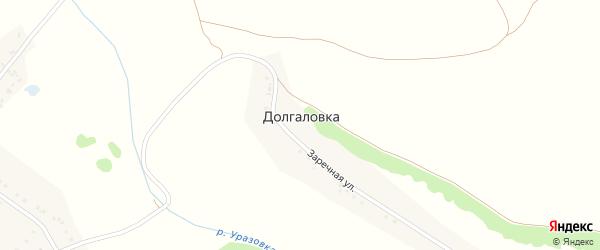Заречная улица на карте хутора Долгаловки с номерами домов
