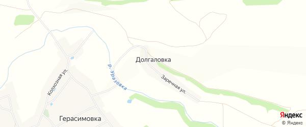 Карта хутора Долгаловки в Белгородской области с улицами и номерами домов