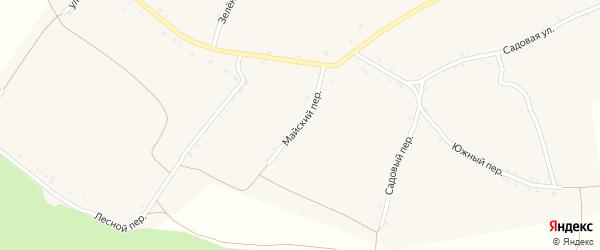 Майский переулок на карте села Палатово с номерами домов