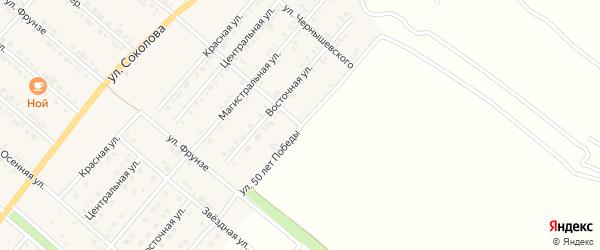 Улица 50 лет Победы на карте Валуек с номерами домов
