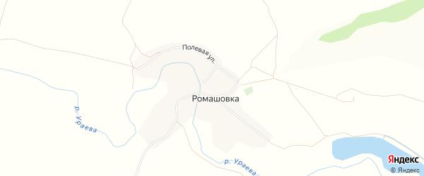 ГСК Железнодорожник на карте хутора Ромашовки с номерами домов