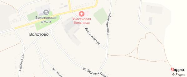 Больничная улица на карте села Волотово с номерами домов