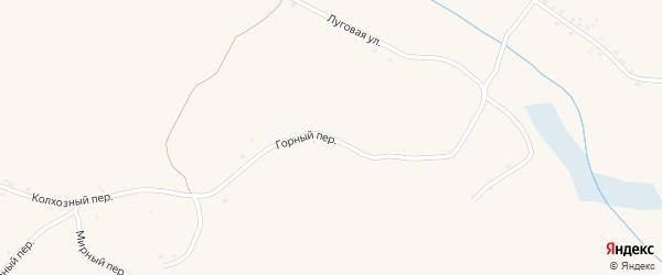Горный переулок на карте села Палатово с номерами домов
