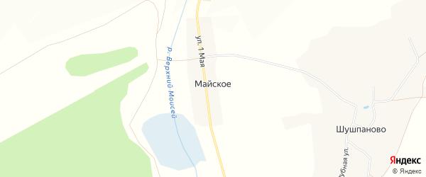 Карта Майского села в Белгородской области с улицами и номерами домов