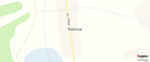 1 Мая улица на карте Майского села с номерами домов