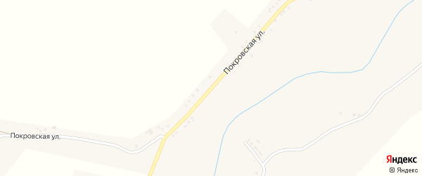 Покровская улица на карте села Старой Безгинки с номерами домов