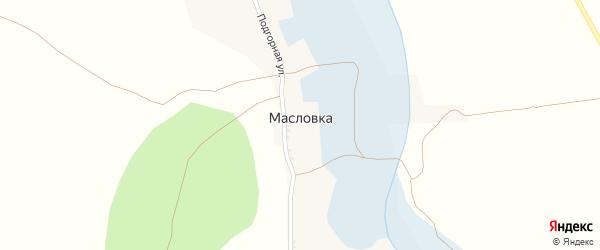Улица Гагарина на карте села Масловки с номерами домов