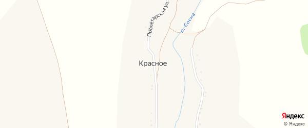 Пролетарская улица на карте Красного села с номерами домов