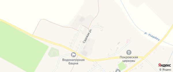 Садовая улица на карте села Старой Безгинки с номерами домов